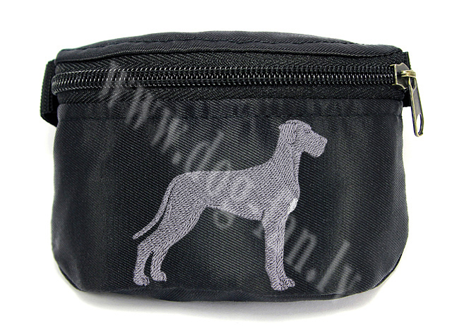 Embroidered Great Dane Treat Bag/ Treat Pouch
